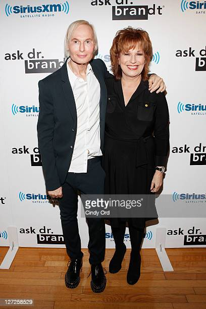 Dr Frederic Brandt and television personality Joy Behar attend Dr Fredric Brandt's SiriusXM launch event at SiriusXM Studio on September 26 2011 in...