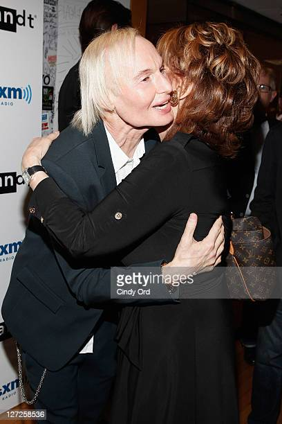 Dr Frederic Brandt greets Joy Behar at his SiriusXM launch event at SiriusXM Studio on September 26 2011 in New York City