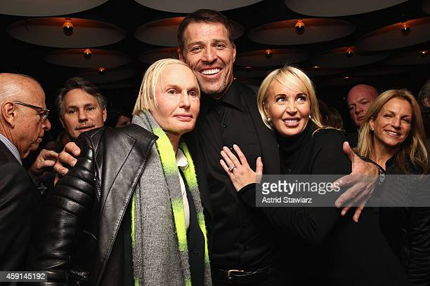 Dr Fredric Brandt Tony Robbins and Sage Robbins attend DuJour Magazine's Jason Binn and Invicta Watches in the welcoming of Tony Robbins to New York...