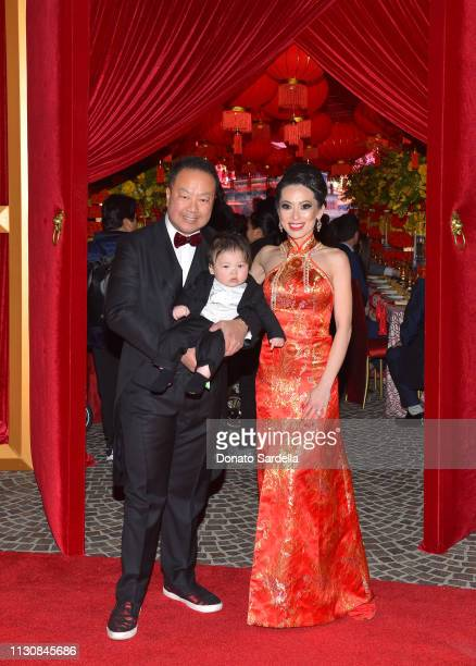 Dr Gabriel Chiu and Christine Chiu and son attend Piaget Bottega Venetta and Chiu Family Celebrates Chinatown 90210 on February 19 2019 in Beverly...