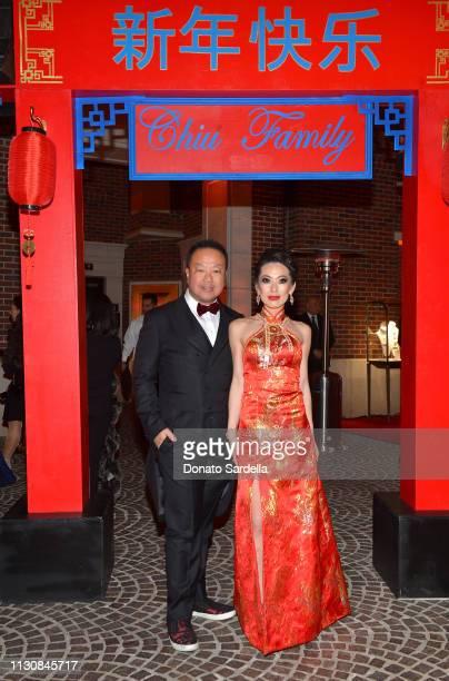 Dr Gabriel Chiu and Christine Chiu attend Piaget Bottega Venetta and Chiu Family Celebrates Chinatown 90210 on February 19 2019 in Beverly Hills...