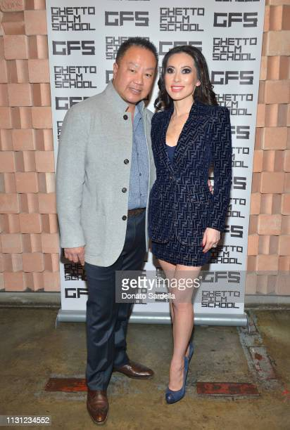 Dr Gabriel Chiu and Christine Chiu celebrate Spike Lee and Ghetto Film School at Tesse Restaurant on February 21 2019 in West Hollywood California