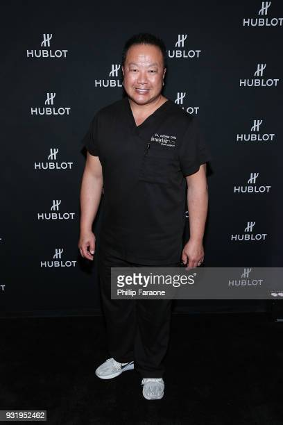 Dr Gabriel Chiu attends the Hublot Private Dinner with Edgar Ramirez at Waldorf Astoria Beverly Hills on March 13 2018 in Beverly Hills California