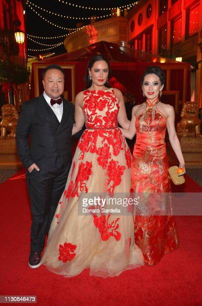 Dr Gabriel Chiu Beau Dunn and Christine Chiu attend Piaget Bottega Venetta and Chiu Family Celebrates Chinatown 90210 on February 19 2019 in Beverly...