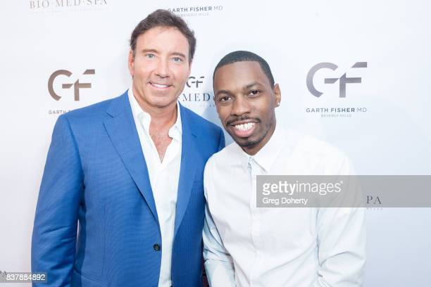 Dr Garth Fisher and Actor Melvin Jackson Jr attend the Official Launch Party Of Dr Garth Fisher's BioMed Spa at Garth Fisher MD on August 22 2017 in...