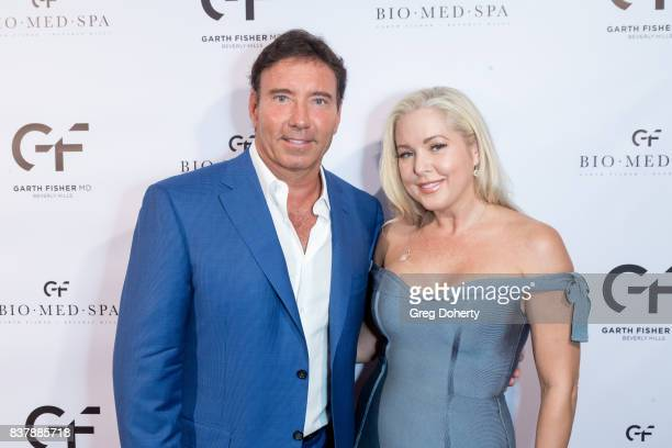Dr Garth Fisher and Actress Tammy Barr attend the Official Launch Party Of Dr Garth Fisher's BioMed Spa at Garth Fisher MD on August 22 2017 in...