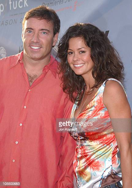Dr Garth Fisher and Brooke Burke during Nip/Tuck Season 2 Premiere Arrivals at Paramount Pictures Theatre in Los Angeles California United States
