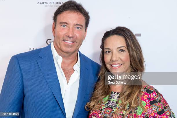Dr Garth Fisher and Carolina Brazil attend the Official Launch Party Of Dr Garth Fisher's BioMed Spa at Garth Fisher MD on August 22 2017 in Beverly...