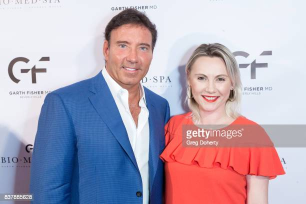 Dr Garth Fisher and CEO and Founder at Give Back Box Monika Wiela attend the Official Launch Party Of Dr Garth Fisher's BioMed Spa at Garth Fisher MD...