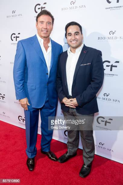 Dr Garth Fisher and guest attend the Official Launch Party Of Dr Garth Fisher's BioMed Spa at Garth Fisher MD on August 22 2017 in Beverly Hills...