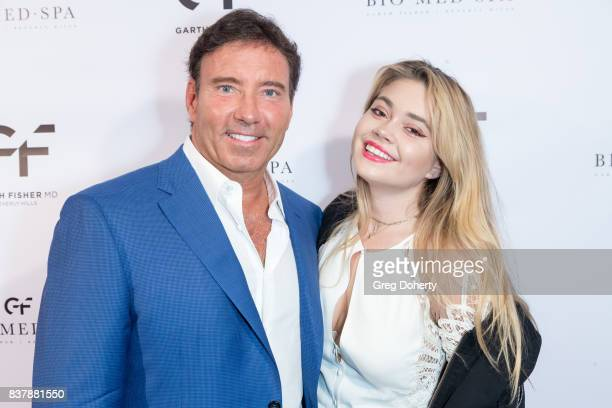 Dr Garth Fisher and his daughter Sierra Fisher attend the Official Launch Party Of Dr Garth Fisher's BioMed Spa at Garth Fisher MD on August 22 2017...