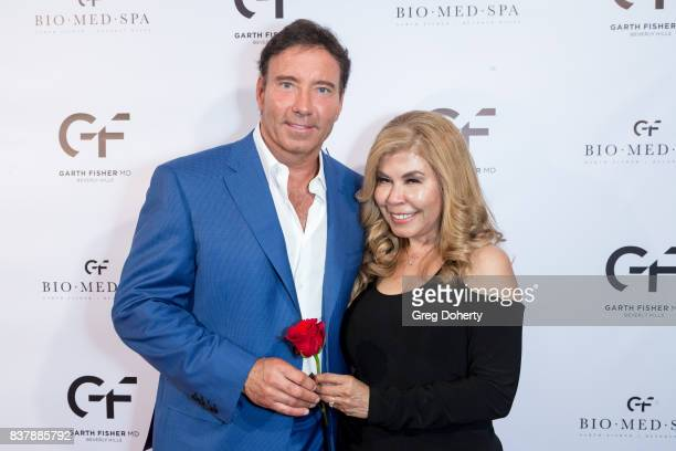 Dr Garth Fisher and Janet Norraik attend the Official Launch Party Of Dr Garth Fisher's BioMed Spa at Garth Fisher MD on August 22 2017 in Beverly...