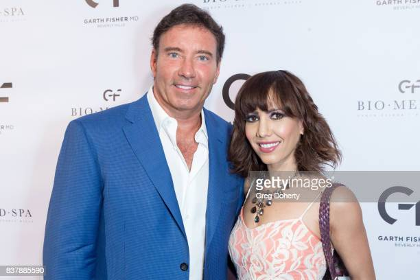 Dr Garth Fisher and Jessica Ross attend the Official Launch Party Of Dr Garth Fisher's BioMed Spa at Garth Fisher MD on August 22 2017 in Beverly...