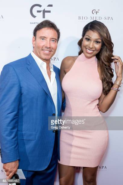 Dr Garth Fisher and Model and Actress Runa Lucienne attends the Official Launch Party Of Dr Garth Fisher's BioMed Spa at Garth Fisher MD on August 22...