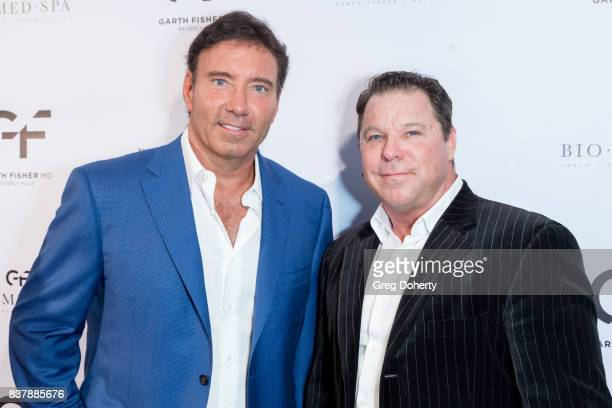 Dr Garth Fisher and Producer Director Lyle Howry attend the Official Launch Party Of Dr Garth Fisher's BioMed Spa at Garth Fisher MD on August 22...