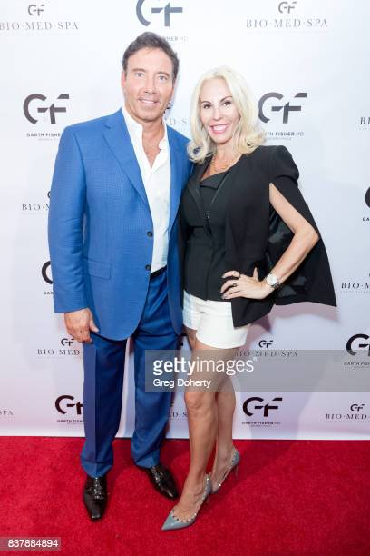 Dr Garth Fisher and Valerie Norgard attends the Official Launch Party Of Dr Garth Fisher's BioMed Spa at Garth Fisher MD on August 22 2017 in Beverly...