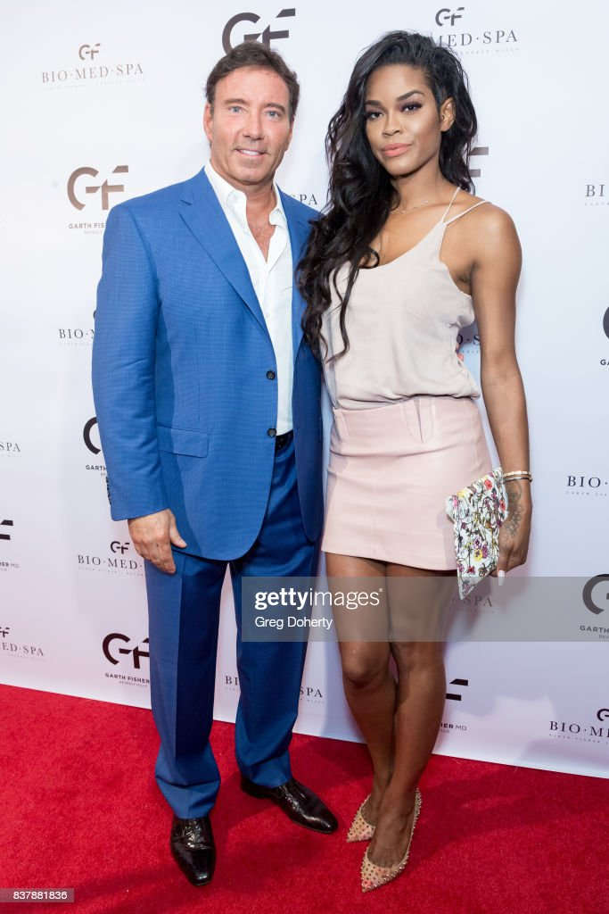 Dr. Garth Fisher and Veronika Obeng attends the Official Launch Party Of Dr. Garth Fisher's BioMed Spa at Garth Fisher MD on August 22, 2017 in Beverly Hills, California.
