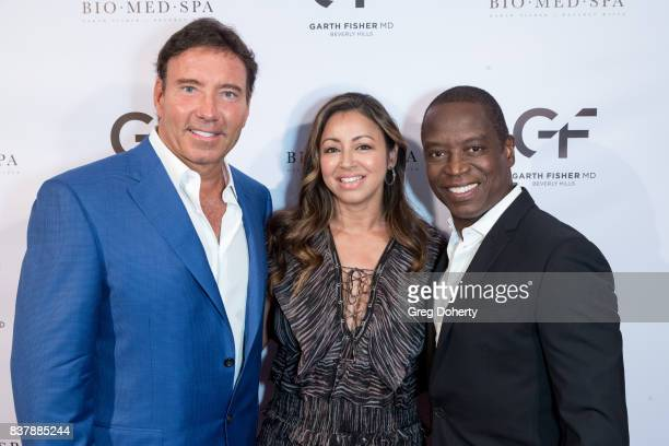 Dr Garth Fisher Dr David Matlock and his wife Veronica Matlock attend the Official Launch Party Of Dr Garth Fisher's BioMed Spa at Garth Fisher MD on...