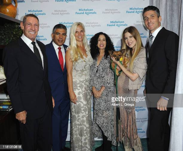 Dr Gary Michelson Tony Cardenas Lisa Avery Judie Mancuso Simone Reyes and Nick Sackett attend the 8th Annual Michelson Found Animals Foundation Gala...