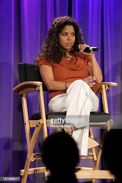 Dr Gaye Theresa Johnson speaks onstage at Reel To Reel Art Of Rap Screening / Jazz Reception at The GRAMMY Museum on September 19 2012 in Los Angeles...