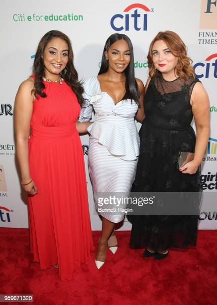 Dr Geetha Murali Ashanti Samantha Barry attend the 2018 Room to Read New York Gala on May 17 2018 at Kimpton Hotel Eventi in New York City