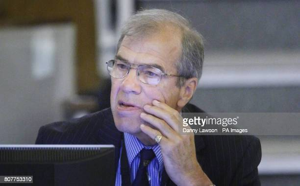 Dr Geoff Ridgway during the inquiry into Clostridium difficile deaths at the Vale of Leven Hospital in Alexandria West Dunbartonshire last year as it...