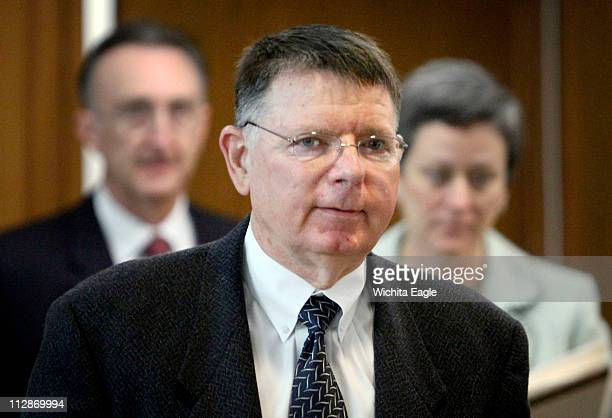 Dr George Tiller enters the courtroom Monday March 23 on the first day of his jury trial in Wichita Kansas Tiller faces 19 misdemeanor charges about...
