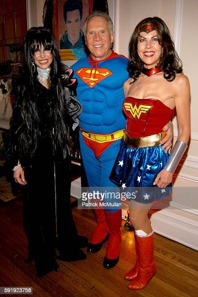 Dr Georgia Witkin Bob Roberts and Lauren Day attend RCouri Hay Halloween Party at Home of Janna Bullock on October 31 2005 in New York City