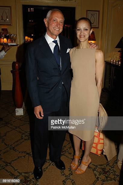Dr Gerald Imber and Cari Modine attend Book Launch for 'Absolute Beauty' by Dr Gerald Imber at Hotel Plaza Athenee on May 9 2005 in New York City