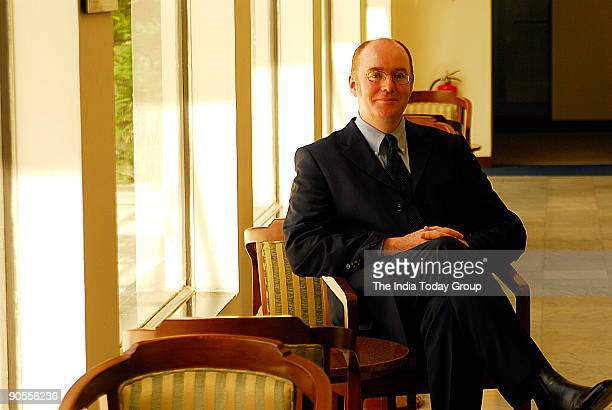 Dr Gerard Lyons, Chief Economist and Group Head of Global Research, Standard Chartered Bank, poses at office, in Mumbai, India. Sitting, Profile