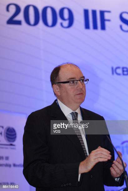 Dr Gerard Lyons Chief Economist and Head of Global Research of Standard Chartered Bank attends the 2009 IIF Spring Membership Meeting which is...