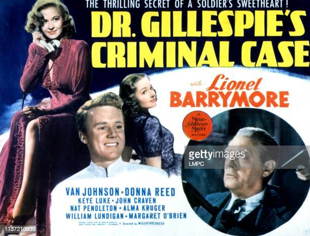 Dr Gillespie's Criminal Case poster Marilyn Maxwell Van Johnson Donna Reed Lionel Barrymore 1943