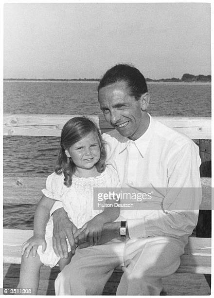 Dr Goebbels Nazi propaganda minister on holiday with his daughter Helga