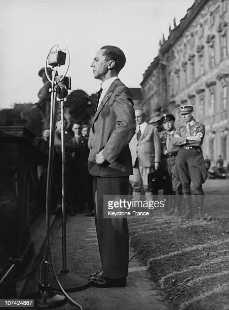 Dr Goebbels Speaking At Berlin In Europe Germany During Thirties