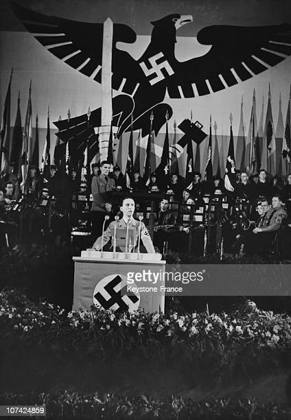 Dr Goebbels Speaking To Hitlerian Youth At Germany In Europe On January 30Th 1938
