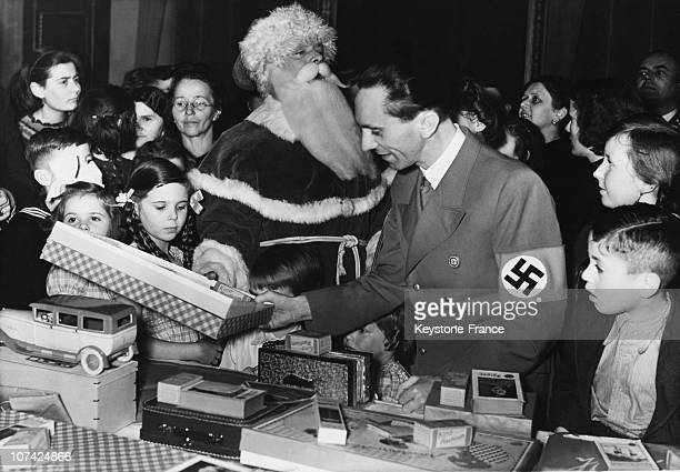 Dr Goebbels With His Children Hilde And Helga At Berlin In Europe Germany During Thirties