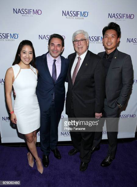 Dr Grace Lee Peng Dr Paul Nassif Julian A Gold and Dr Donald Yoo arrive for Dr Paul Nassif's unveiling of his new medical spa with grand opening and...