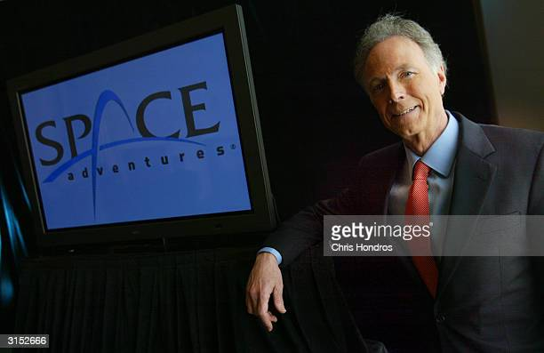 Dr Gregory Olsen poses for a portrait after announcing that he will be the next privately employed 'space tourist' March 29 2004 in New York The...
