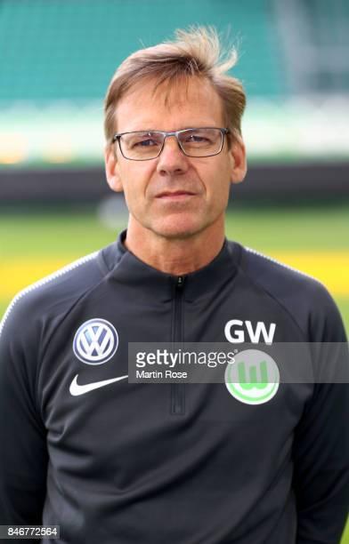 Dr Gunter Wilhelm of VfL Wolfsburg poses during the team presentation at on September 13 2017 in Wolfsburg Germany