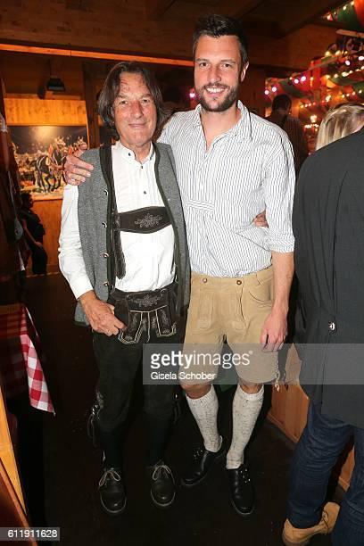 Dr HansWilhelm MuellerWohlfahrt and his son Dr Kilian MuellerWohlfahrt during the Oktoberfest at SchuetzenFestzelt /Theresienwiese on October 1 2016...
