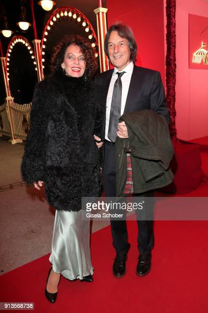 Dr HansWilhelm MuellerWohlfahrt and his wife Karin MuellerWohlfahrt 'Karen LaKar' during Michael Kaefer's 60th birthday celebration at Postpalast on...