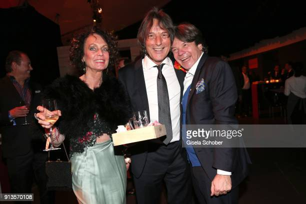 Dr HansWilhelm MuellerWohlfahrt and his wife Karin MuellerWohlfahrt Karen LaKar and host Michael Kaefer during Michael Kaefer's 60th birthday...