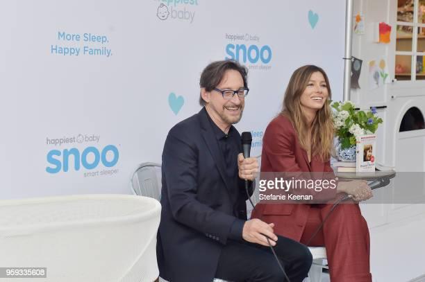 Dr Harvey Karp and Jessica Biel attend Jessica Biel and Dr Harvey Karp Celebrate Moms Dads and their Favorite Helper the SNOO at Au Fudge Los Angeles...