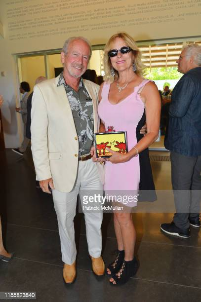 Dr Harvey Manes and Meryl Dee attend Parrish Art Museum Midsummer Party at Parrish Art Museum on July 13 2019 in Water Mill NY