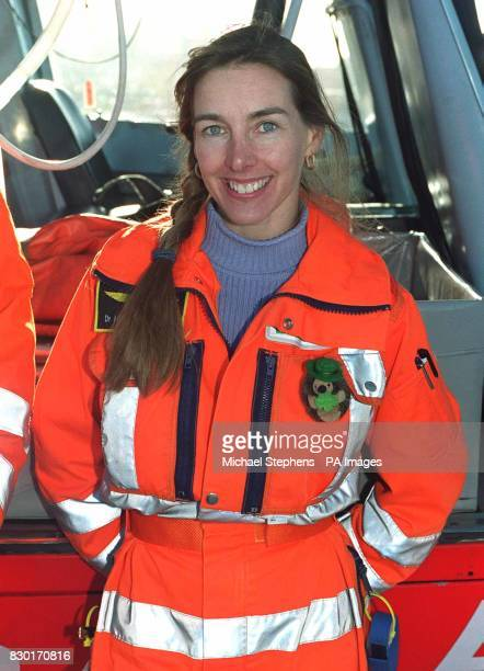 Dr Heather Clark of the Helicopter Emergency Medical Service at the helicopter pad on the roof of the Royal London Hospital Whitechapel Dr Clark...