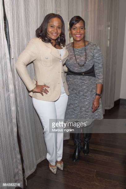 Dr Heavenly Kimes and mayoral candidate Keisha Lance Bottoms attend the runoff fundraiser for Keisha Lance Bottoms at Chama Gaucha Brazilian...