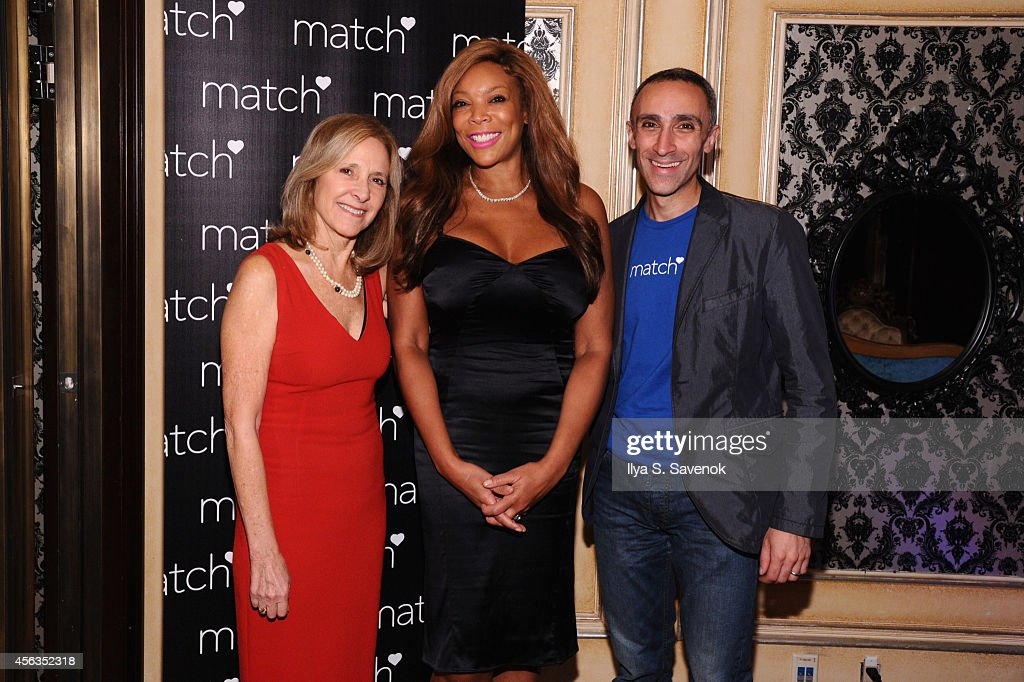 Dr. Helen Fisher, Wendy Williams and CEO of Match Inc. Sam Yagan attend The Match Bachelor Showcase benefiting The American Heart Association hosted by Wendy Williams on September 29, 2014 in New York City.