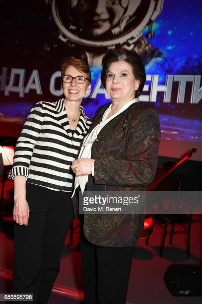 Dr Helen Sharman and Valentina Tereshkova attend the Artpoint Foundation gala screening of 'The Legend About Valentina' a specially commissioned...