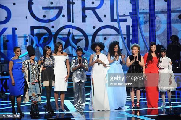 Dr. Helene Gayle, Erykah Badu, Nadia Lopez, Michelle Obama, Regina King, Tracee Ellis Ross, Beverly Bond, Debra Lee, Ava DuVernay, and Cicely Tyson...