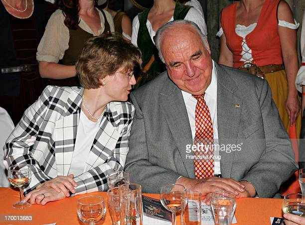 Dr Helmut Kohl and girlfriend Maike Richter at Zdf summer festival on the Museum Island in Berlin 290605
